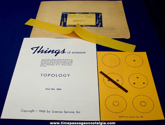 ©1966 #306 Topology Science Service Things of Science Kit