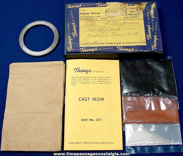 ©1967 #317 Cast Iron Science Service Things of Science Kit