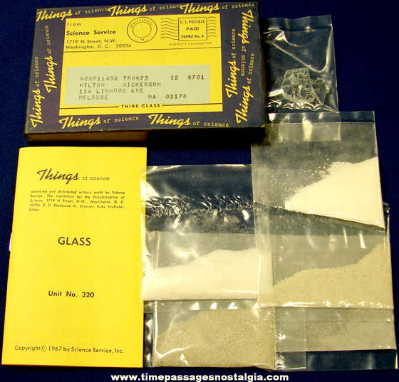 ©1967 #320 Glass Science Service Things of Science Kit