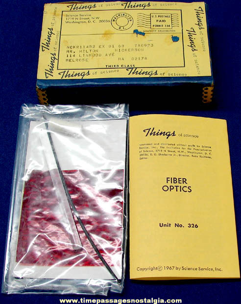 ©1967 #326 Fiber Optics Science Service Things of Science Kit