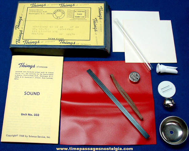 ©1968 #333 Sound Science Service Things of Science Kit