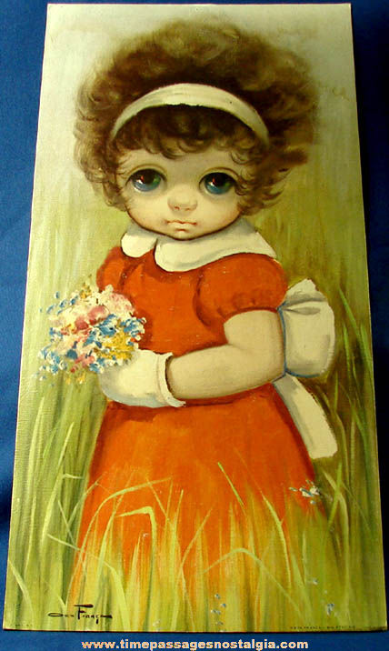 Large Old Ozz Franca Sad Big Eye Young Girl Print