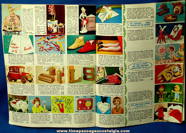 ©1966 Spencer Gifts Novelty Gift Christmas Catalog