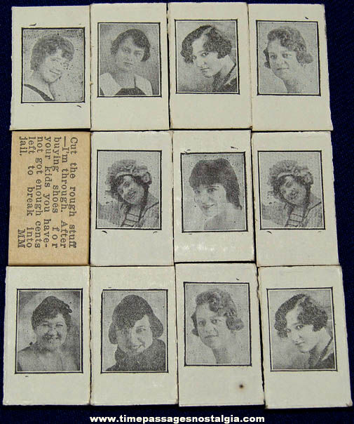 (12) Small Old Unused Arcade Vending Machine Lady Picture Fortune Cards