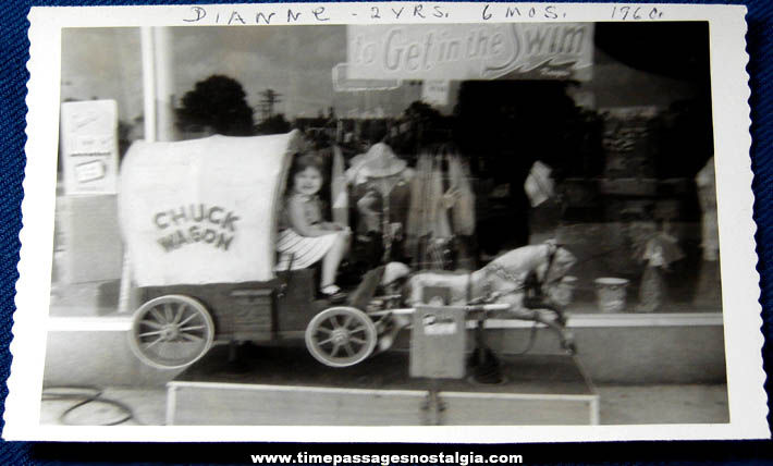 1960 Chuck Wagon With Horse Coin Operated Childrens Ride Photograph