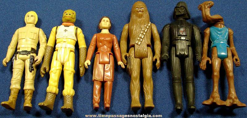 (6) ©1977 - ©1980 Star Wars Character Action Figures