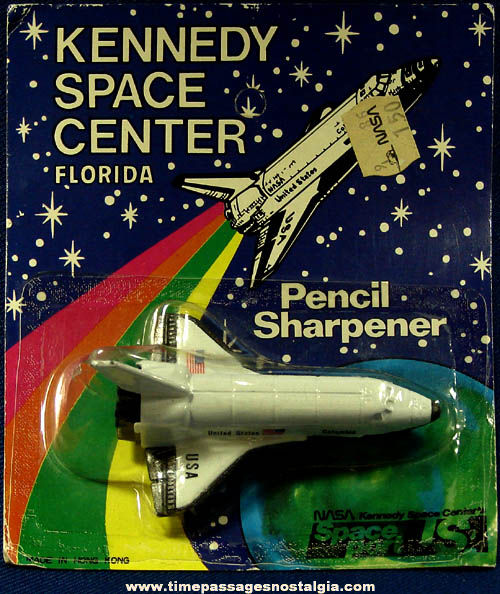 Old Unopened Columbia Space Shuttle Souvenir Pencil Sharpener