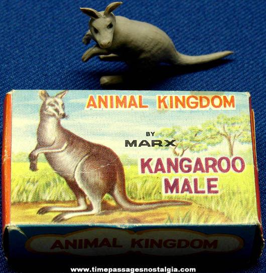 Old Boxed Marx Kangaroo Toy Play Set Figure