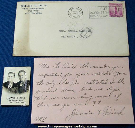 (3) 1937 - 1941 Jimmie & Dick Novelty Boys Items