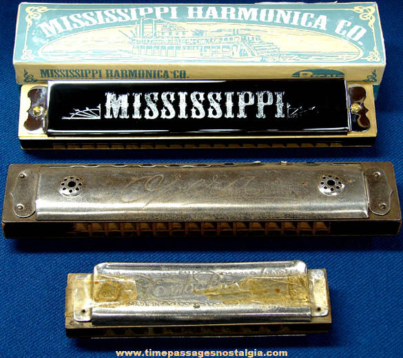 (3) Different Harmonica Musical Instruments