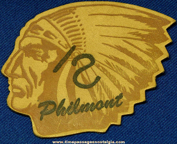 Old Unused Boy Scouts Leather Indian Head Philmont Patch