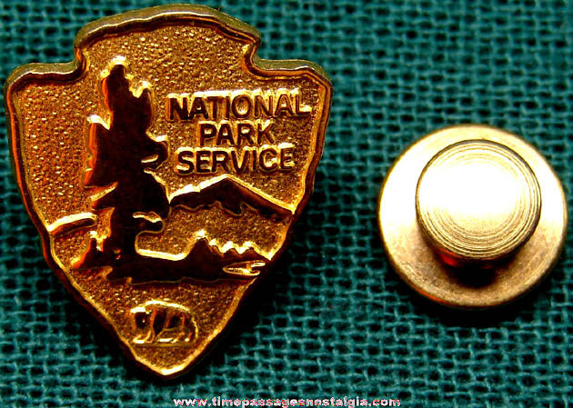 Old National Park Service Arrowhead Logo Metal Employee Pin