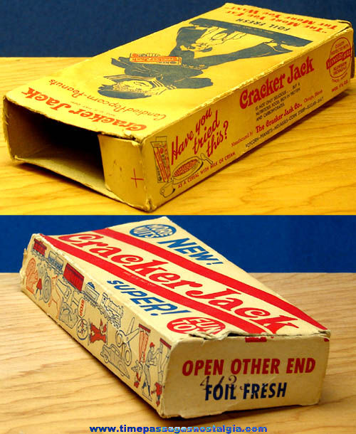 1950s Cracker Jack Super Box with Prizes Pictured