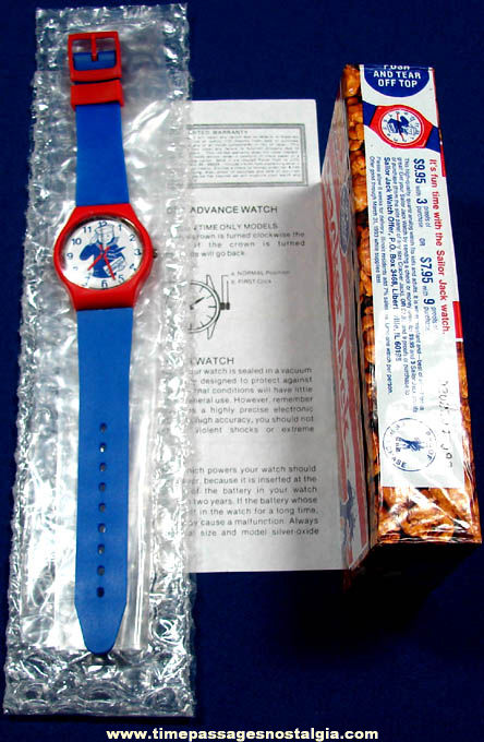 Unused 1992 Cracker Jack Premium Watch With Advertising Box