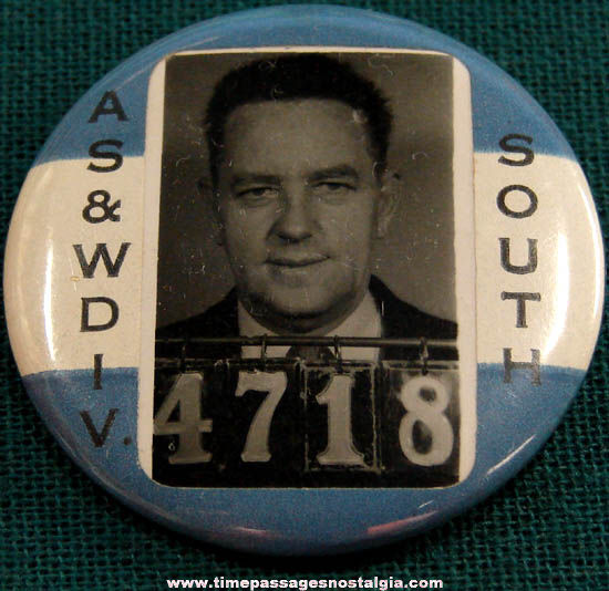 Old Employee Photo Identification Badge