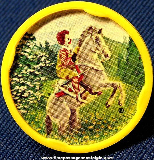 ©1979 McDonald's Restaurant Ronald McDonald Advertising Character Premium Toy Ring