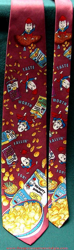 Colorful Unused Humpty Dumpty Potato Chip Advertising Employee Neck Tie