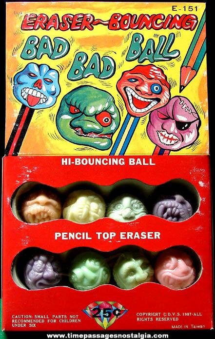 ©1987 Gum Ball Machine Monster Prize Advertising Header Card