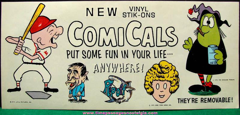 ©1975 Vending Machine Cartoon Character Prize Advertising Header Card