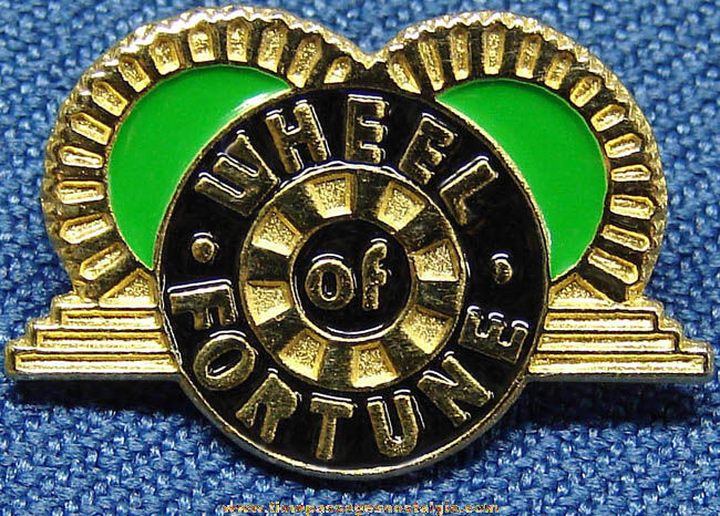 Enameled Metal Wheel of Fortune Television Game Show Advertising Pin