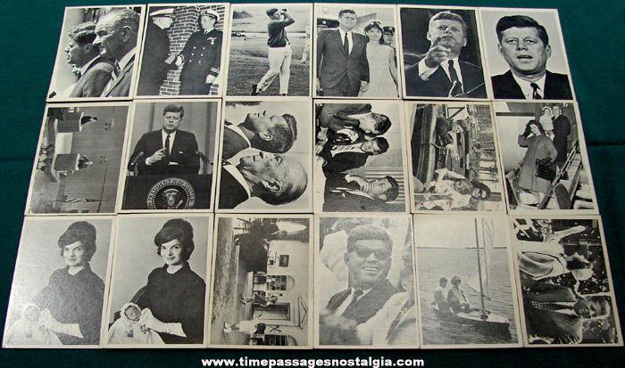 (18) 1964 President John F. Kennedy Topps Bubble Gum Trading Cards