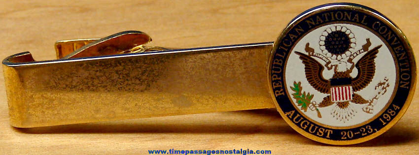 1984 Republican National Convention Advertising Neck Tie Bar