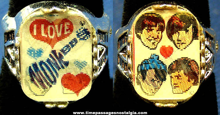 Old Monkees Gum Ball Machine Prize Flicker Toy Ring