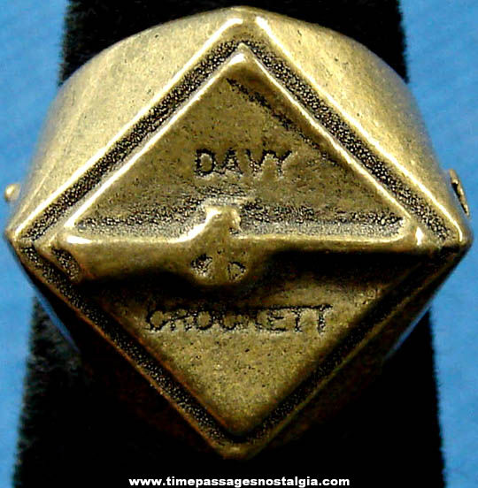 Old Davy Crockett Character Gum Ball Machine Prize Toy Ring