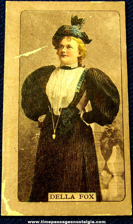 Old Della Fox Actress Singer Trading Card