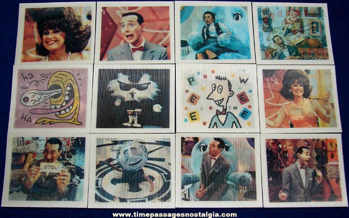 Set of (12) ©1988 Pee Wee Herman Playhouse Topps Flicker Trading Cards