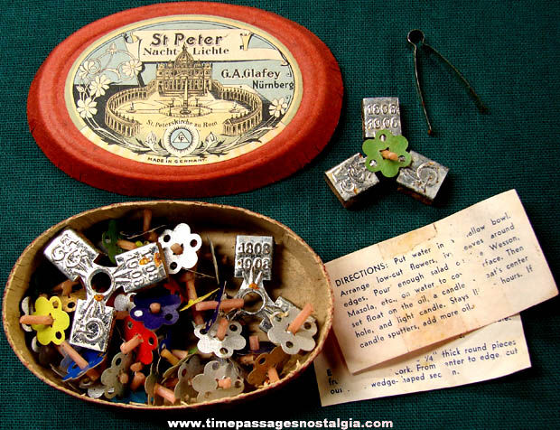 Unused Boxed 1908 St. Peter's Cathedral German Candle Kit