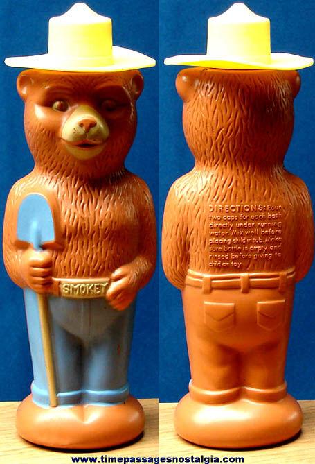 1960s Smokey Bear Character Soaky Bubble Bath Bottle