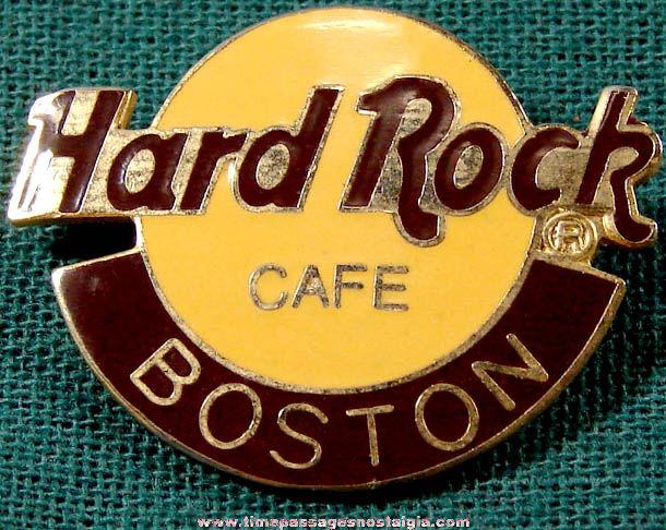 Enameled Boston Hard Rock Cafe Advertising Souvenir Pin