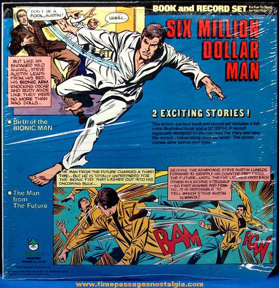 ©1977 Unused Six Million Dollar Man Book & Record Album Set