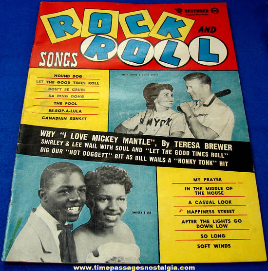 (4) 1950s Rock & Roll and Hit Parader Music Magazines