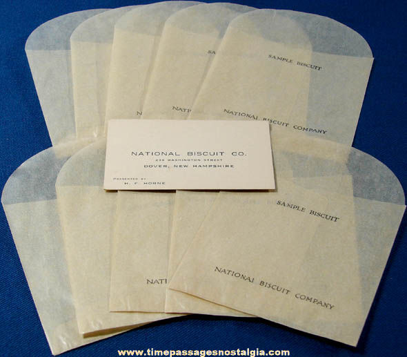 (11) Small Old National Biscuit Company Paper Advertising Items