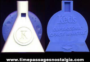 (2) 1960s Keds Shoes Advertising Premium Whistles