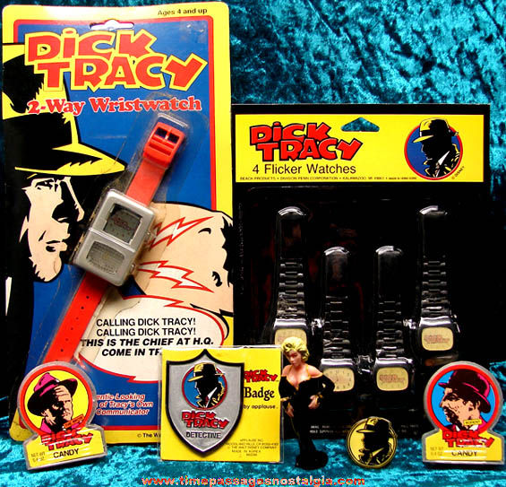 (10) Old Dick Tracy Character Movie Advertising Items