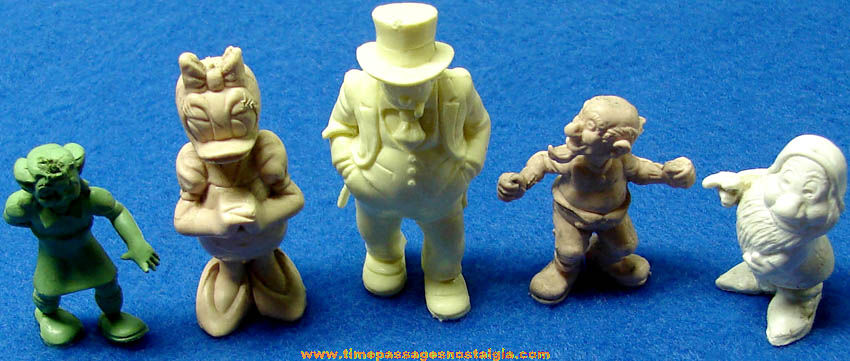 (5) Different Old Comic Strip or Cartoon Character Marx Plastic Play Set Figures