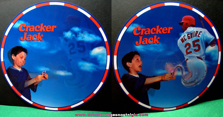 Large Cracker Jack Advertising Mark McGwire Baseball Flicker Store Display