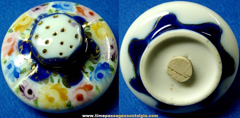 Colorful Old Porcelain Shaker Bottle