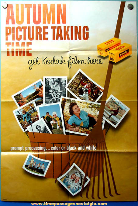 Old Kodak Film Advertising Autumn Store Poster - TPNC