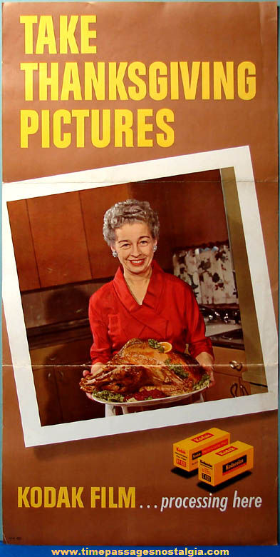 Old Kodak Film Advertising Thanksgiving Holiday Store Poster