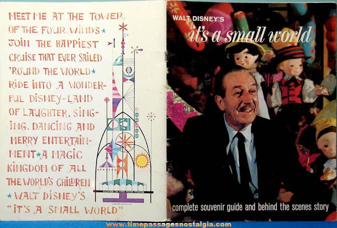 1964 - 1965 New York World's Fair Walt Disney Exhibit Advertising Souvenir Booklet
