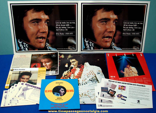 (25) Old Elvis Presley Related Paper Items
