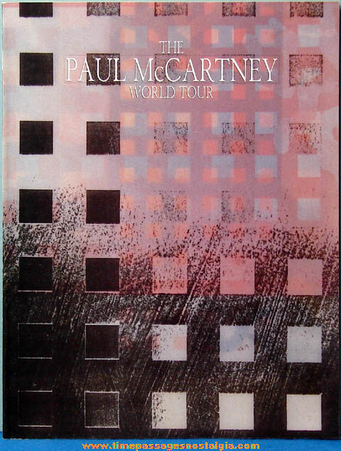1989 Paul McCartney World Tour Program Book