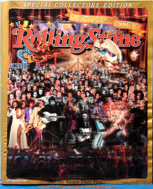 ©2006 Rolling Stone Magazine 1000th Issue Special 3-D Collectors' Edition