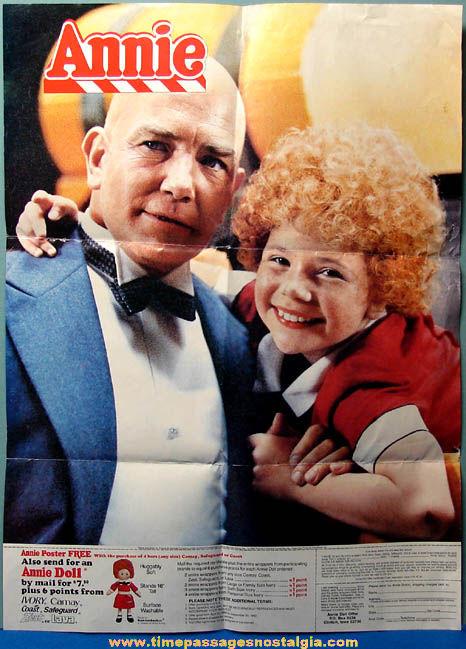 ©1982 Coca Cola Advertising Premium Little Orphan Annie Poster With Mailer & Bonus Poster