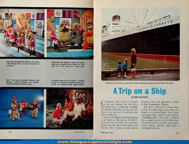 February 1969 Jack & Jill Magazine With The Banana Splits