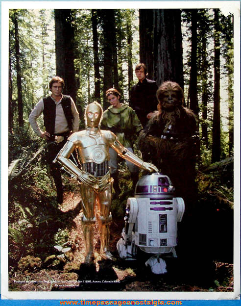 Old Lucasfilm Fan Club Star Wars Character Picture